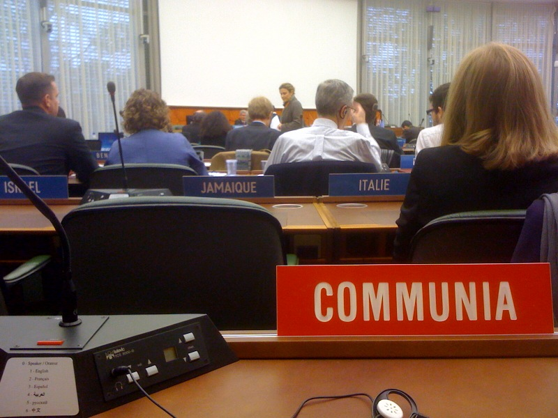 Communia Association is a WIPO observer since October 2012 after several meetings as ad hoc observer