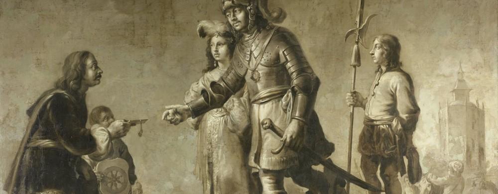 Boudewijn van Heusden and his Wife Sophia Receiving Homage from the Legate of King Edmund