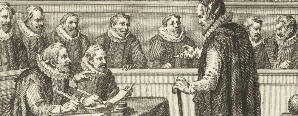 Johan van Oldenbarnevelt verschijnt voor zijn rechters