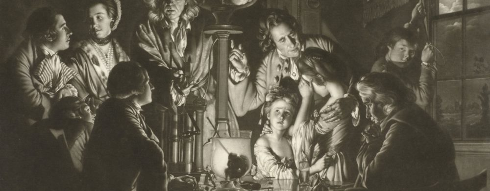 Experiment met luchtledige bol, Valentine Green, after Joseph Wright of Derby, 1768