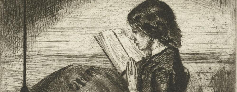 Portret van Deborah Delano lezend, James Abbott McNeill Whistler, 1858