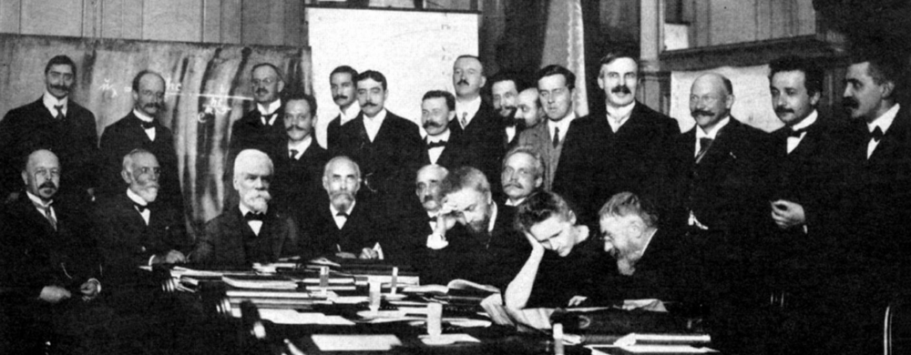 Participants of the first Solvay Conference, in 1911, Brussels, Belgium