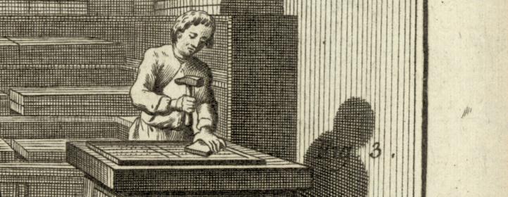 Imprimerie en Lettres : l'operation de la casse (fragment)