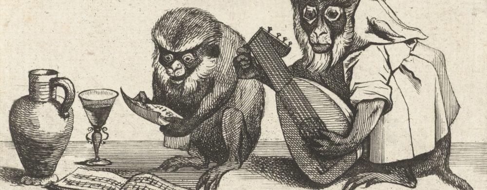 Twee apen maken muziek
