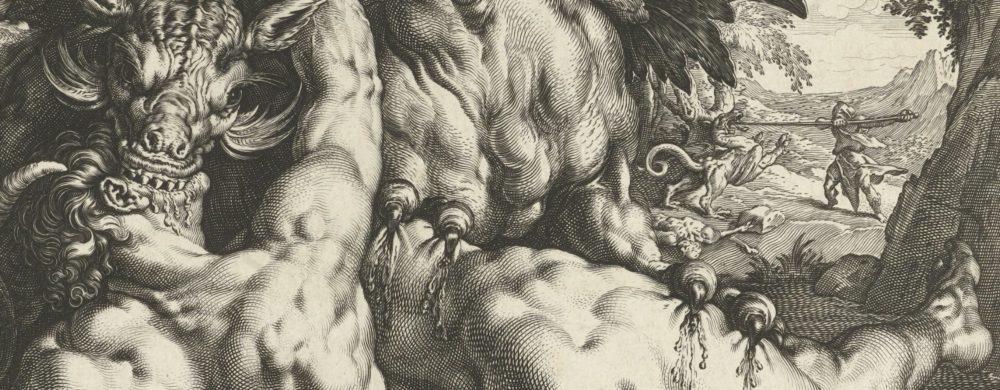 A dragon devouring the companions of Cadmus